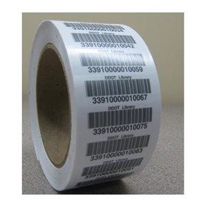 Code à barres, simple sur rouleau