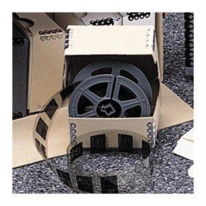 Boîte pour microfilm individuel à charnière