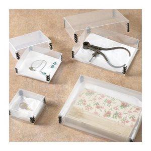 Boîtes de rangement transparentes pour artefacts