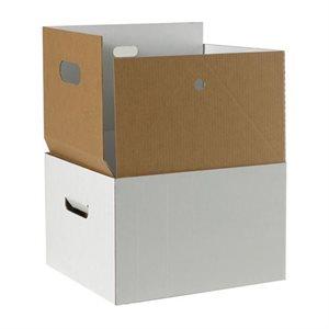 Boîte avec couvert double cloison