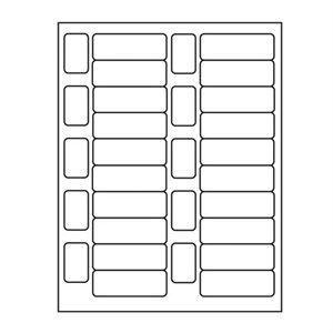 ÉTIQUETTES BASIX LASER 1''1 / 2 X 29 / 32 CIRCULATION: 1'' X 2''25 / 32