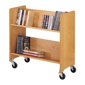 Chariot à livres classique en bois massif à un côté de 29 1 / 2 po de largeur