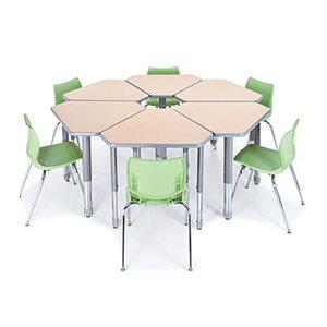 """Table d'étudiant """"Interchange"""" 22-34""""H, 34 po de largeur sans caisson"""