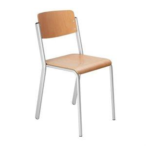 Chaise empilable à tubes d'acier