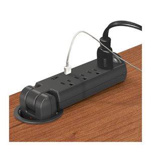 Prise électrique (4) et prise USB (2)