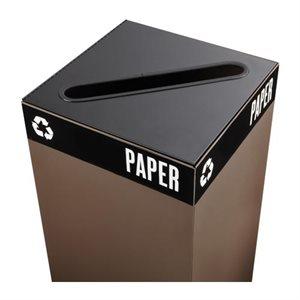 Couvercle de recyclage du papier Square® Public Produits Safco