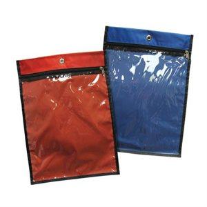 Sac de nylon avec fermeture éclair 13 1 / 2 x 10 x 2, rouge