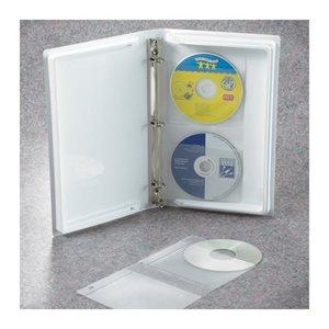 Reliure grande capacité CD / DVD avec anneaux