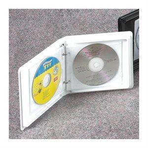 RELIURE POUR CD BLANC 2 ANNEAUX