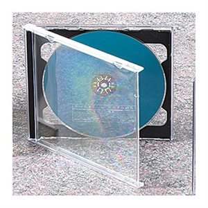 BOITIER CD DOUBLE NOIR / TRANSPARENT