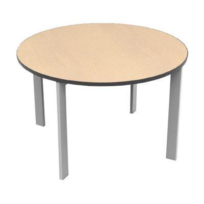 Brodart Array Tables stratifiées haute pression avec plaquage de bordure en PVC noir Brodart Array